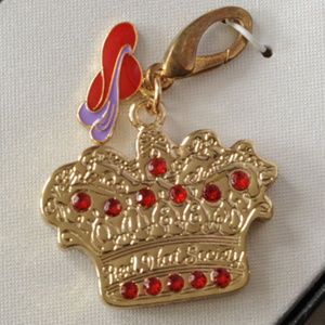 The Red Hat Society crown clip bag charm crystal